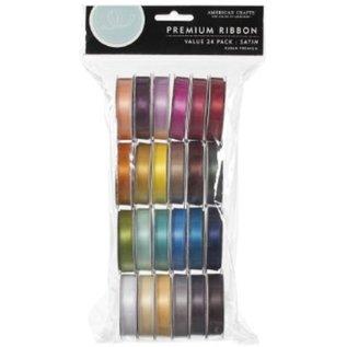 DEKOBAND / RIBBONS / RUBANS ... Een set van 24 Satin decoratieve linten, kleur-gecoördineerd! - Copy