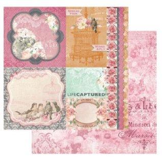 Designer Papier Scrapbooking: 30,5 x 30,5 cm Papier 1 double-sided printed designer paper, 180 gr