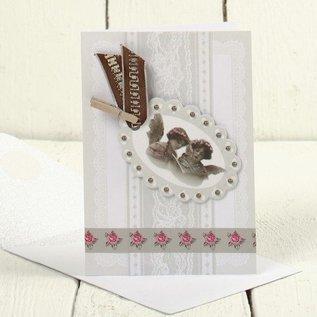 KARTEN und Zubehör / Cards 5 Vintage cards + envelopes, card size 10,5x15 cm