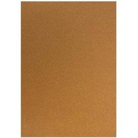 Karten und Scrapbooking Papier, Papier blöcke Kartonset Metallic A5 , Kupfer, 20 Blatt, 250gr