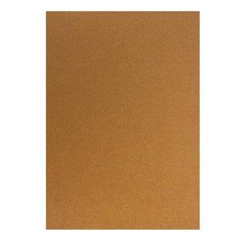 Karten und Scrapbooking Papier, Papier blöcke Kartonset Metallic A5, kobber, 20 ark, 250g