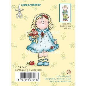 Leane Creatief - Lea'bilities und By Lene Clear stamps, Bambini fille avec des roses