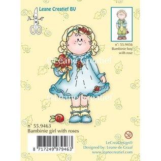 Leane Creatief - Lea'bilities und By Lene Timbri trasparenti, Bambini ragazza con le rose