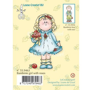 Leane Creatief - Lea'bilities und By Lene Clear stamps, Bambini girl with roses