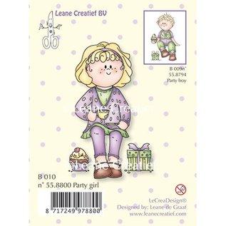 Leane Creatief - Lea'bilities und By Lene Clear stempels, Party girl