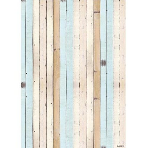 Studio Light A4 background sheet - wood design bow