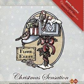 Yvonne Creations Stamp, Yvonne Creations, Brievenbus van Kerstmis