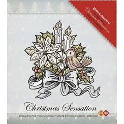 Clear Stamps, Yvonne Creations, flowers and candles