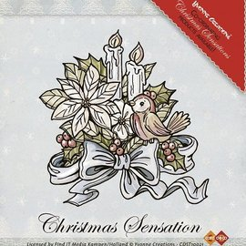 Yvonne Creations Clear Stamps, Yvonne Creaciones, flores y velas