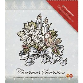 Yvonne Creations Clear Stamps, Yvonne Creaciones, flores y velas