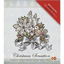 Yvonne Creations Clear stamps, Yvonne de créations, des fleurs et des bougies