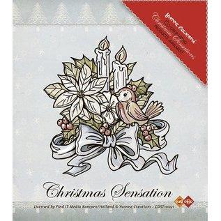 Yvonne Creations Clear Stamps, Yvonne Creations, bloemen en kaarsen