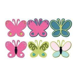 Sizzix Perforación y relieve plantilla mariposa Triplits