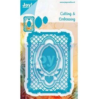 Joy!Crafts / Jeanine´s Art, Hobby Solutions Dies /  Stempelen en embossing stencil, het frame rechthoek filigrane, Ov ale frame en label