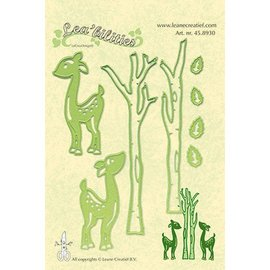Leane Creatief - Lea'bilities und By Lene Punching and embossing template Lea'bilitie, reindeer and trees