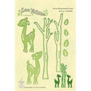 Leane Creatief - Lea'bilities und By Lene Punzonatura e goffratura modello Lea'bilitie, renne e alberi