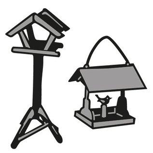 Marianne Design Stempling og prægning stencil, Tiny s Birdhouse