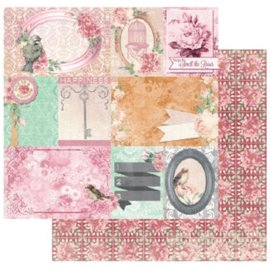 BO BUNNY Diseñador de papel, 30,5 x 30,5 cm, Bo Bunny Madeleine felicidad