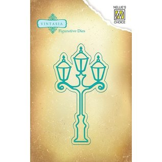 Nellie Snellen Punching and embossing template Vintasia, Vintage Lantern