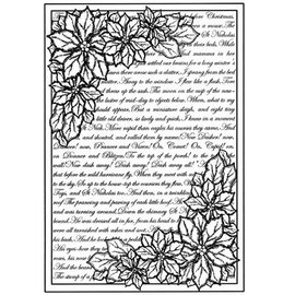 CREATIVE EXPRESSIONS und COUTURE CREATIONS Rubber stamp background with text