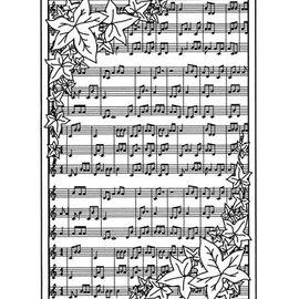 CREATIVE EXPRESSIONS und COUTURE CREATIONS Caucho fondo sello con notas
