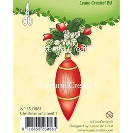 Leane Creatief - Lea'bilities und By Lene Clear Stamps, Christmas ornament 1