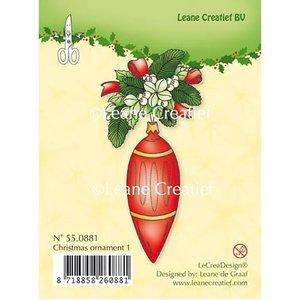 Leane Creatief - Lea'bilities und By Lene Clear Stamps, kerstbal 1
