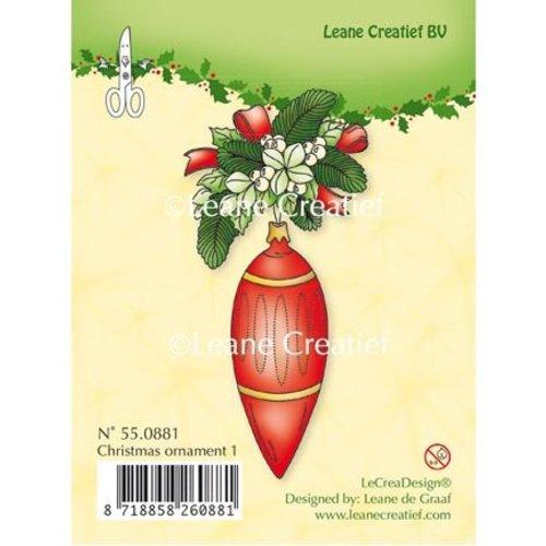 Leane Creatief - Lea'bilities und By Lene Transparente Stempel, Christmas ornament 1