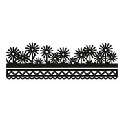 Marianne Design Stanz- und Prägeschablone, Craftables - Anja's flower border