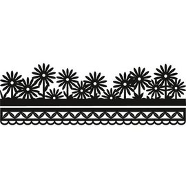 Marianne Design Punching and embossing template Craftables - Anja's flower border