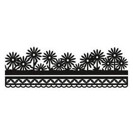Marianne Design De perforación y de la plantilla de estampado Craftables - frontera de la flor de Anja