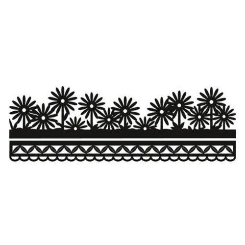 Marianne Design Ponsen en embossing sjabloon Craftables - Anja's bloemenrand