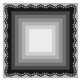 Marianne Design Ponsen en embossing sjabloon Craftables, 8 frame van vierkanten