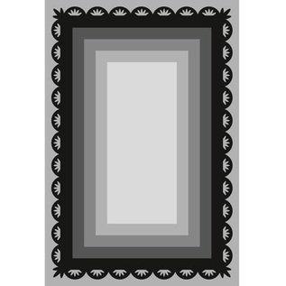 Marianne Design Ponsen en embossing sjabloon Craftables, 6 frame van rechthoeken