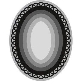 Marianne Design Ponsen en embossing sjabloon Craftables, 6 kader Oval