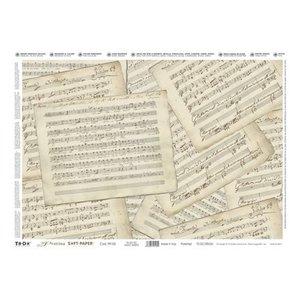 DECOUPAGE AND ACCESSOIRES Precious Soft Paper 35x50cm - Music Sheets