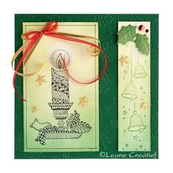 Clear Stamps, candle with candlestick