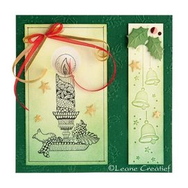 Leane Creatief - Lea'bilities und By Lene Clear Stamps, candle with candlestick