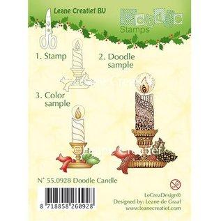 Leane Creatief - Lea'bilities und By Lene Clear Stamps, kaars met kandelaar