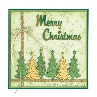 Leane Creatief - Lea'bilities und By Lene Transparante stempels, kerstbomen