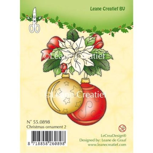 Leane Creatief - Lea'bilities und By Lene Clear Stamps, kerstbal 2