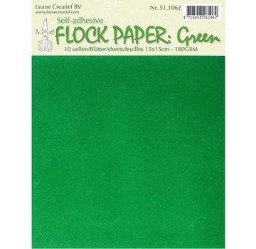 BASTELZUBEHÖR, WERKZEUG UND AUFBEWAHRUNG Zelf Flock papier, groen