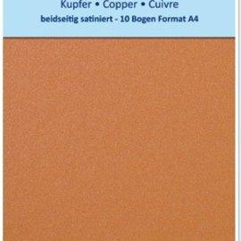 Karten und Scrapbooking Papier, Papier blöcke 10 hojas, cartón metalizado Set A4, acabado metálico satinado en ambas caras, 250gr. / Metro cuadrado de cobre