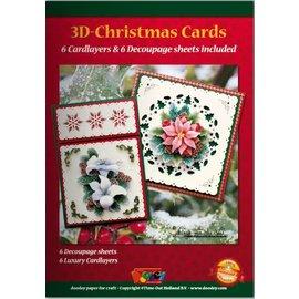 KARTEN und Zubehör / Cards A5 Bastelbuch for 6 3D julekort + 6 Card Layouts