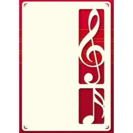 KARTEN und Zubehör / Cards Ein Set von 3 Luxury A6 card layer, mit Notenschlüssel