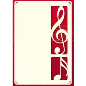 KARTEN und Zubehör / Cards A set of 3 Luxury card layer A6, with clef