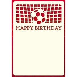 KARTEN und Zubehör / Cards Un conjunto de A6 capa tarjeta de Lujo 3, tema: Footbal
