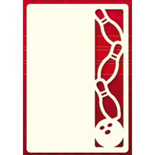 KARTEN und Zubehör / Cards Ein Set von 3 Luxury A6 card layer, Thema: Kegeln