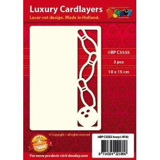 KARTEN und Zubehör / Cards Een set van 3 Luxe oplegkaart A6, Thema: Bowling
