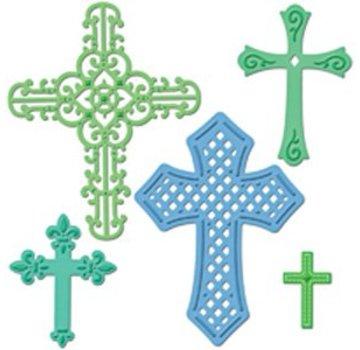 Spellbinders und Rayher Spellbinders, stansning og prægning skabelon Shapeabilities, kors